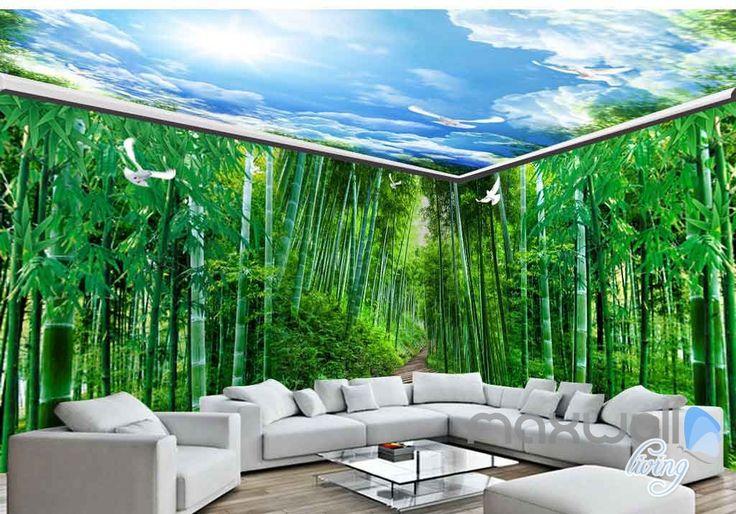 25 best ideas about 3d wall murals on pinterest wall for Bamboo forest wall mural wallpaper