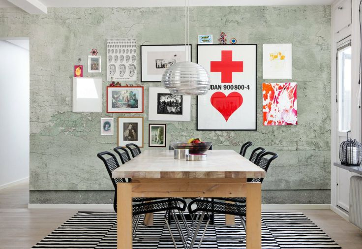 E020801-6 Foto-Tapete Vlies-Wandbild gestrichene Beton-Wand zart grün Stein-Optik: Amazon.de: Baumarkt