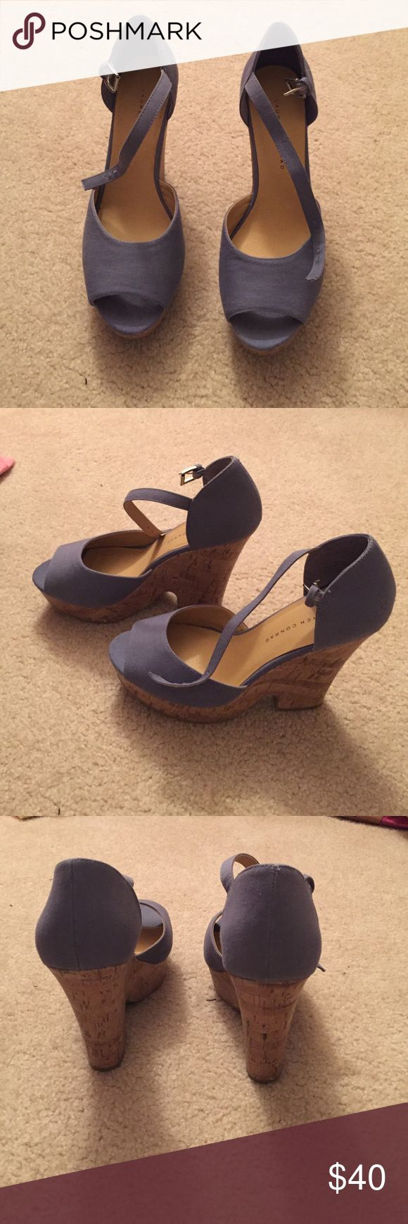 Lauren Conrads purple wedges Worn once. In practically new condition. LC Lauren Conrad Shoes Wedges