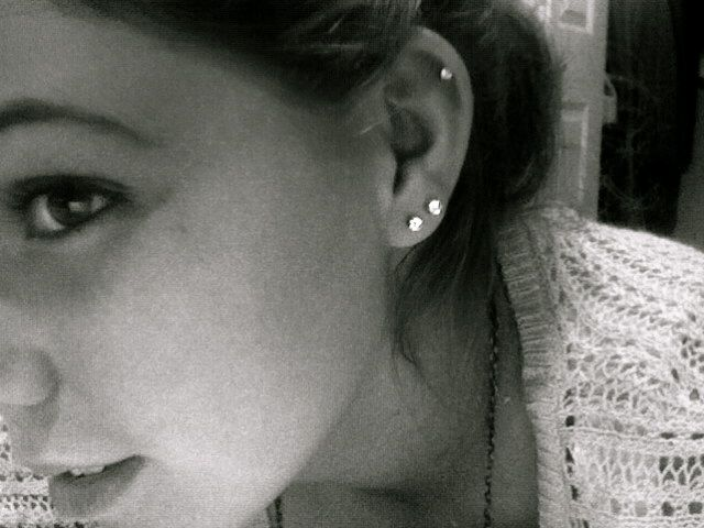 second lobe piercing and helix - Google Search