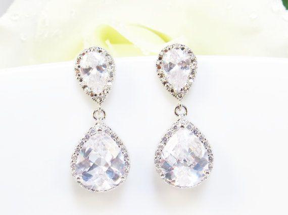 Orecchini Orecchini, orecchini di damigella d'onore, di nozze, goccia, orecchini, gioielli da sposa, gioielli damigella d'onore on Etsy, 24,36€