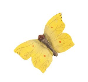 Handcarved Brimstone butterfly #citronfjäril #cedronella #Zitronenfalter