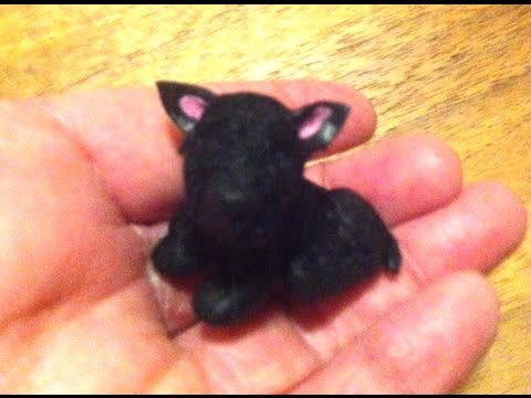 Polymer Clay Miniature - Black Scotch Terrie - YouTube