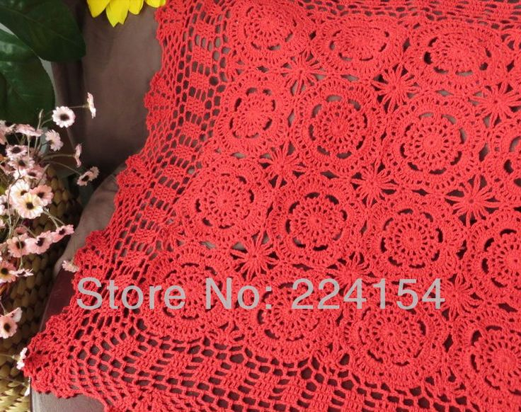 Aliexpress.com : Buy 60x60 cm handmade crochet red tablecloth for wedding Free Shipping!!! from Reliable square tablecloth suppliers on Handmade Shop $13.80
