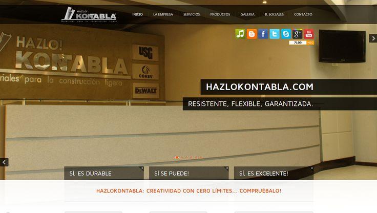 http://www.hazlokontabla.info/ ~ 2011 / Ofrece la mejor calidad en materiales ligeros para la construcción (durock, tablaroca, plafones) brindando soluciones integrales e innovadoras y es actualmente uno de los cinco (5) distribuidores más grandes de todo México.