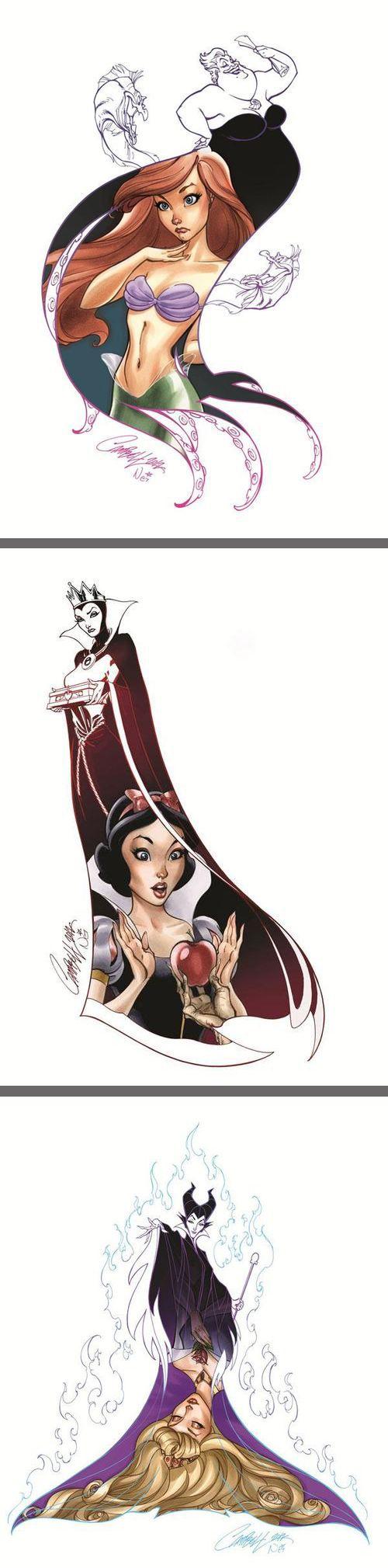 Disney Art, Heroines & Villains (by J. Scott Campbell and Nei Ruffino)