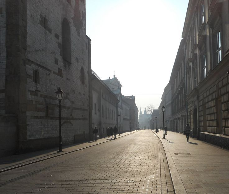 Empty street in Krakow