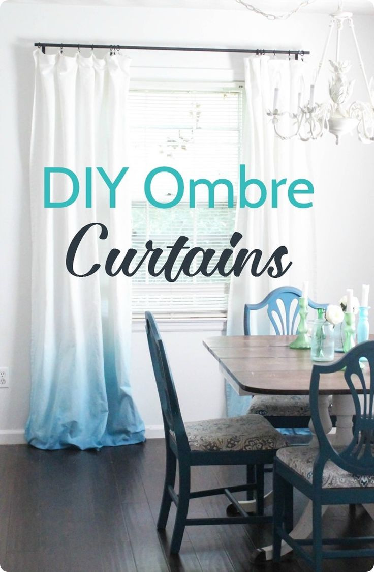 Easy step by step tutorial to make beautiful DIY ombre curtains from inepensive white curtains. Such an inexpensive way to add major style to a space.