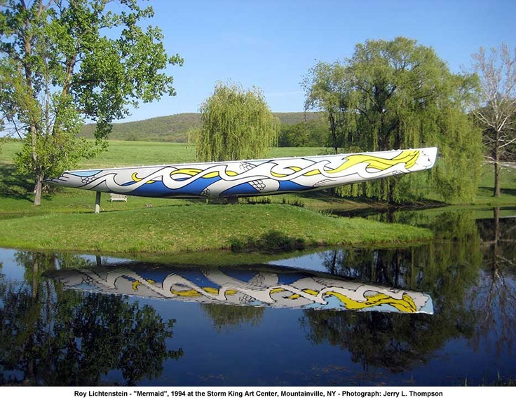 """Mermaid"" by Roy Lichtenstein, at Storm King Art Center"