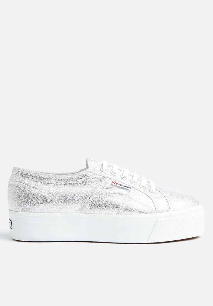 Superga 2790 Glitter Wedge - Silver