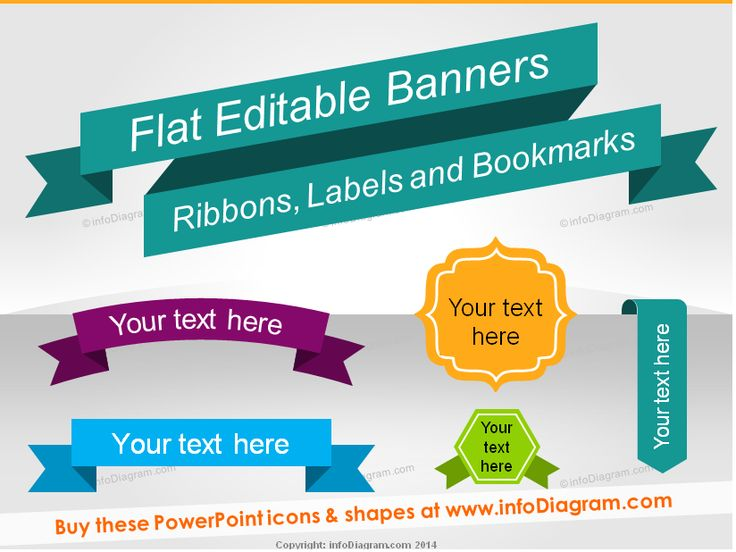 47 best infodiagrams ppt icons design images on pinterest flat banners ribbon metro style infographics titles ppt shapes editable in powerpoint toneelgroepblik Images