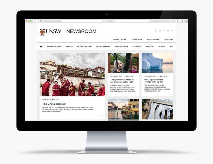 Made Somewhere- UNSW Newsroom Website Desktop