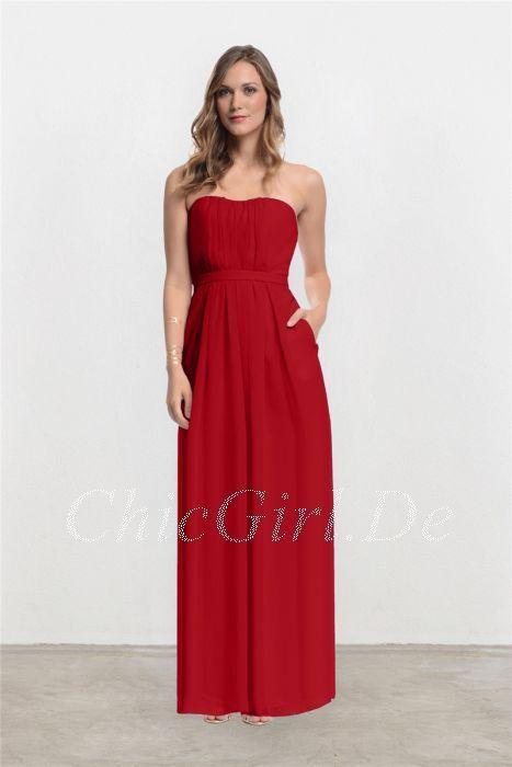 f5942beb86b421 Elegante Bandeau Rückenfrei Brautjungfernkleider Abendkleid Mit Taschen Lang  Ch... 2019 #abendkleid #bandeau #brau…   ♥ Rotes Abendkleider Lang 2019 ♥  in ...