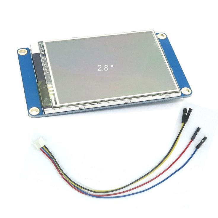 DIYmall Nextion 2.8 inch English Version UART LCD Display for Arduino https://www.aliexpress.com/item/2-8-TFT-320x240-resistive-touch-screen-display-Nextion-2-8-HMI-LCD-Display-Module-TFT/32445284684.html