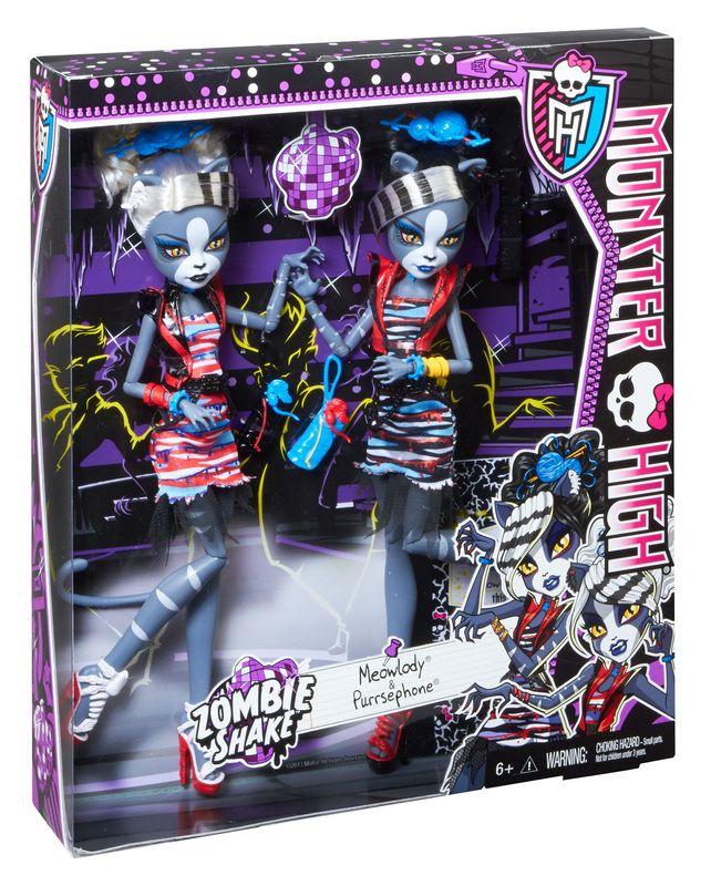 Monster High, Zombie shake Meowlody et Purrse phone. 38.99$ Achetez-le info@laboiteasurprisesdenicolas.ca 450-240-0007