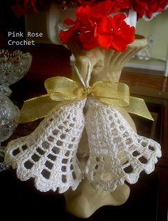 PINK ROSE CROCHET: Sinos Enfeite para o Natal com a Receita