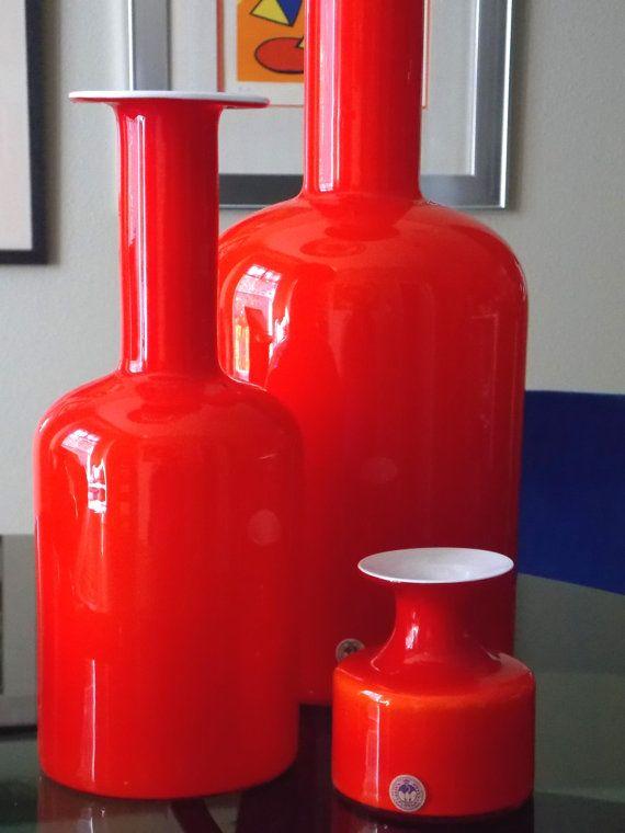 Holmegaard Gulvvase Carnaby 12 Vase Per Lutken by MidCenturyFLA