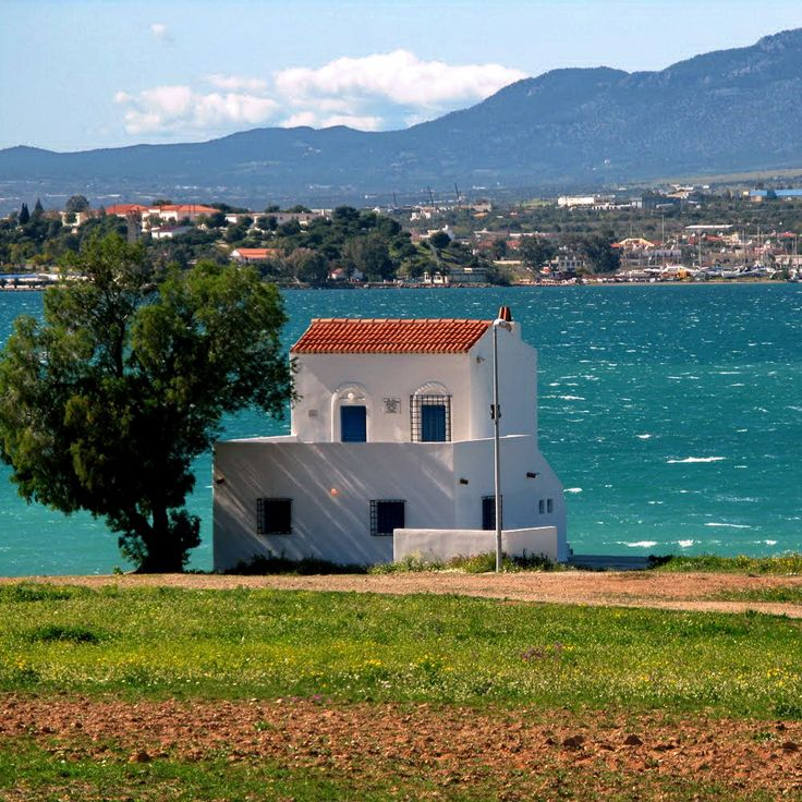 The house of the great poet Angelos Sikelianos . Salamina - Greece
