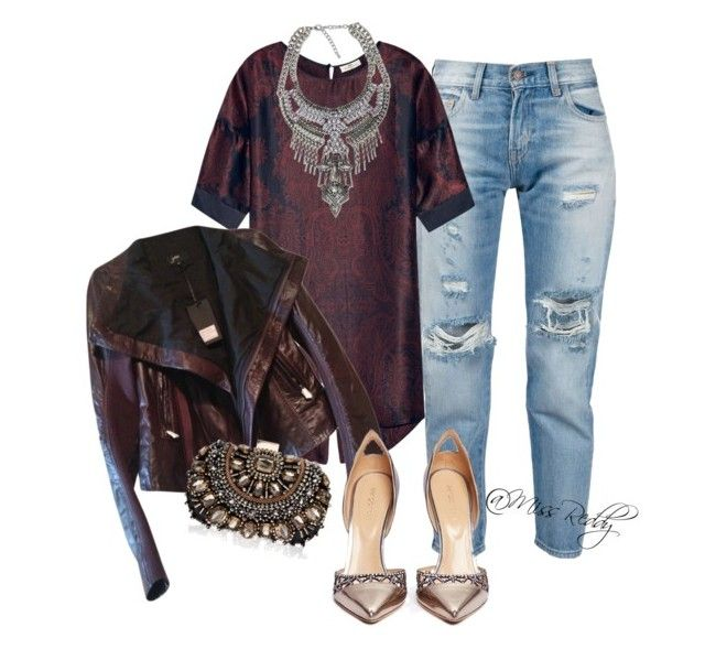 Untitled #33 by missreddy on Polyvore featuring polyvore, fashion, style, DAY Birger et Mikkelsen, June, Levi's, Sergio Rossi and Lipsy