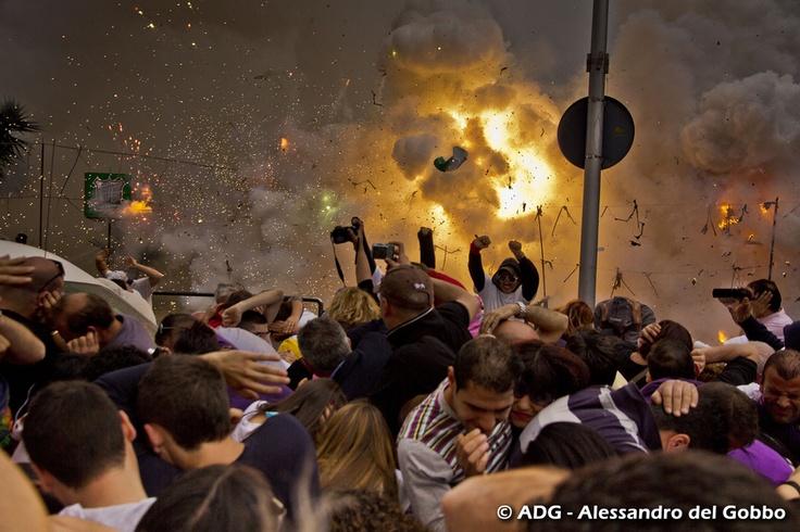 San Severo 2012 - Italian Fireworks Finale (Batteria) for the 'Festa del Soccorso' event