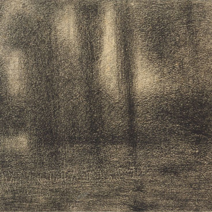 Georges Seurat, Poplars, ca. 1883–84, Conte crayon. THE J. PAUL GETTY MUSEUM, LOS ANGELES