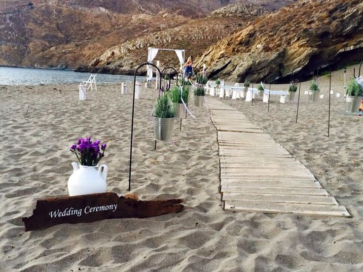Beach wedding ceremony Marmari Greece