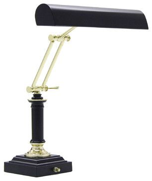 House of Troy P14-233-617 Black and Brass Piano Lamp - contemporary - bathroom lighting and vanity lighting - Littman Bros Lighting