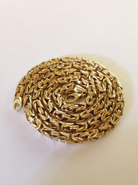 Byzantijnse keten ronde  Handgemaakte exclusieve Byzantijnse ketting gemaakt van 14 kt goud56 cm lang dat de links zijn 4.6 tot en met 5 mm dik gewicht 64 gMint conditie zoals veiligheid storting sieraden.Het stuk van juwelen zal worden verzonden verzekerde met het tracking-nummer.  EUR 1.00  Meer informatie
