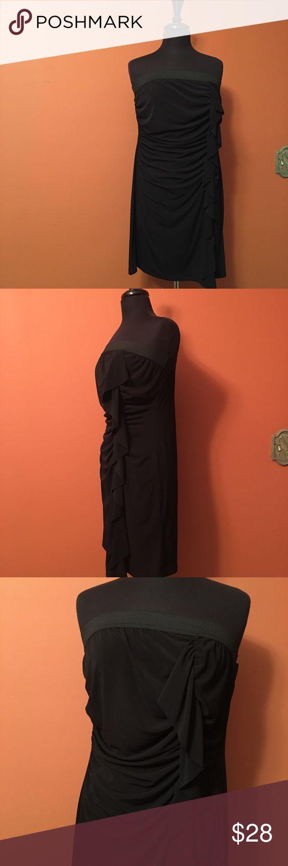 Strapless Ruched Little Black Dress Plus size strapless Ruched front dress size 2X, NWT, polyester/spandex L8ter Dresses Mini