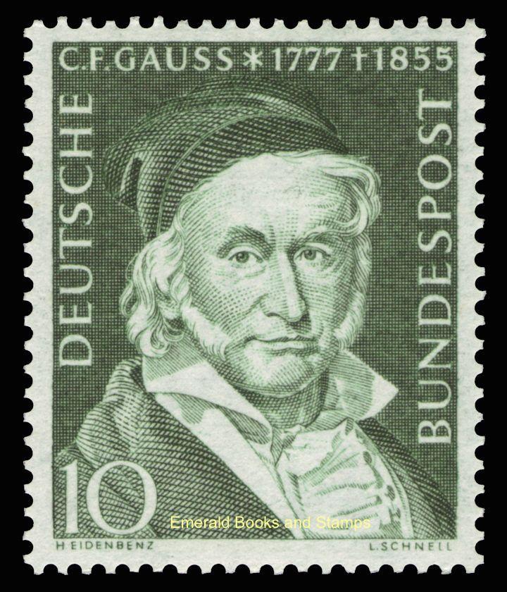 EBS Germany BRD 1955 Carl Friedrich Gauss Gauß Michel 204 MNH**   eBay