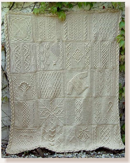 Designer Aran Knitting Patterns : Great American Aran Afghan pattern. This is on my to do list! Knitting - Af...