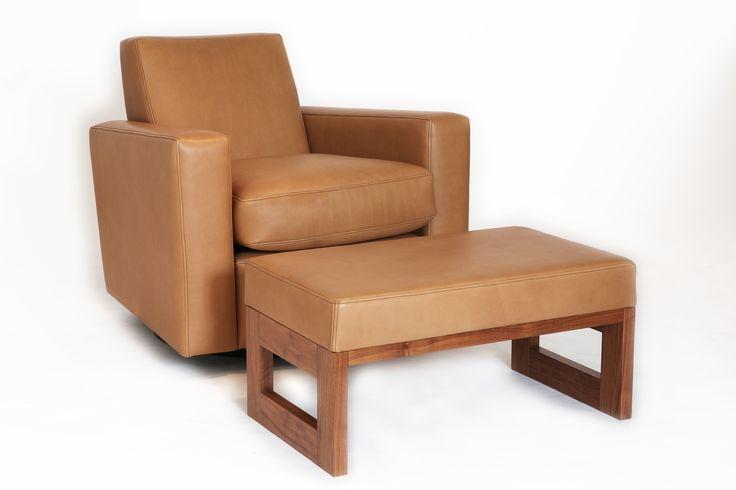 Architect Club Chair and footstool Ed Cruikshank