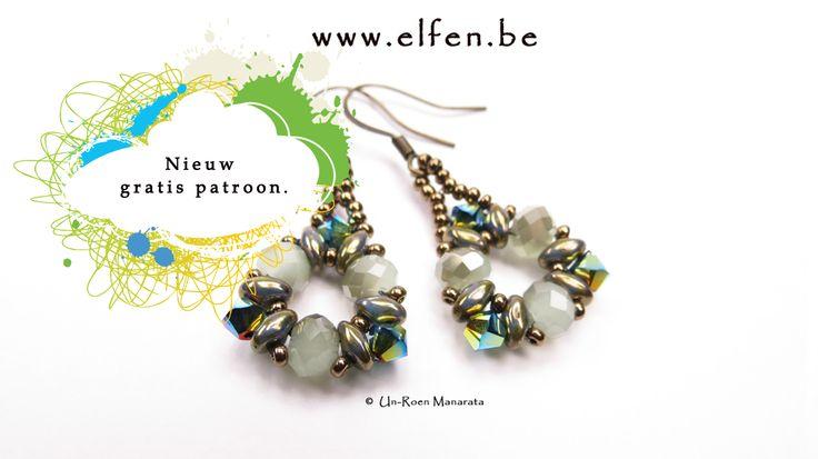 Elfenatelier - Tanya Earrings (free pattern) | Beadwork by