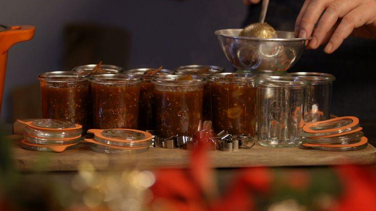 Appel-tomaten chutney uit de aflevering 'Damhert uit de Amsterdamse Waterleidingduinen' #KMVB #kokenmetvanboven #kerst
