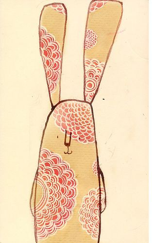 flower bunny by emma block, via Flickr