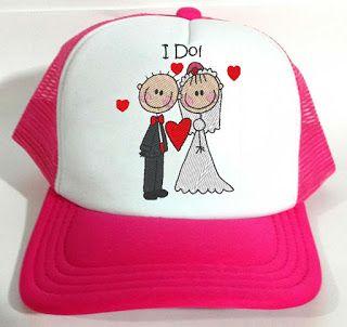 Boné para noiva e casamentos personalizado com bordado  55fa6f768e2