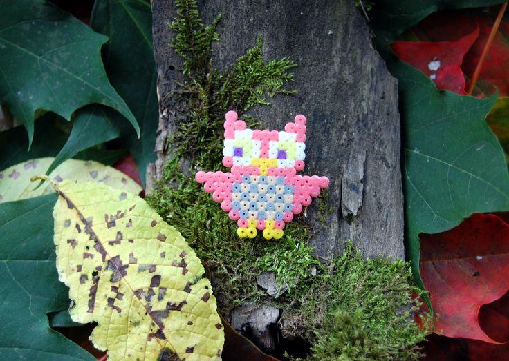 Owl brooch (mini hama beads)