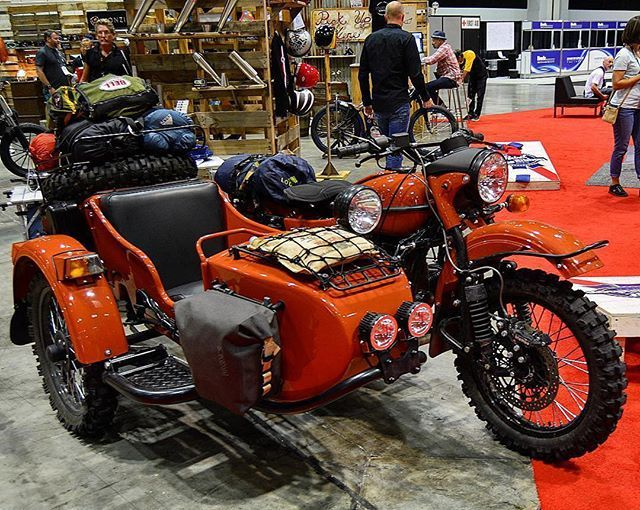 Are you at @aimexpo? Visit our friends @standardmotorcycleco at Booth 873 and check our adventure ready Ural cT! Photo:@thegeardude690