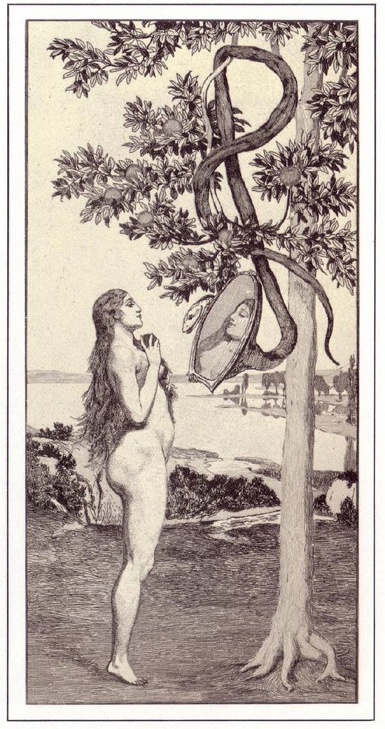 Eve and the Future by Max Klinger, 1888