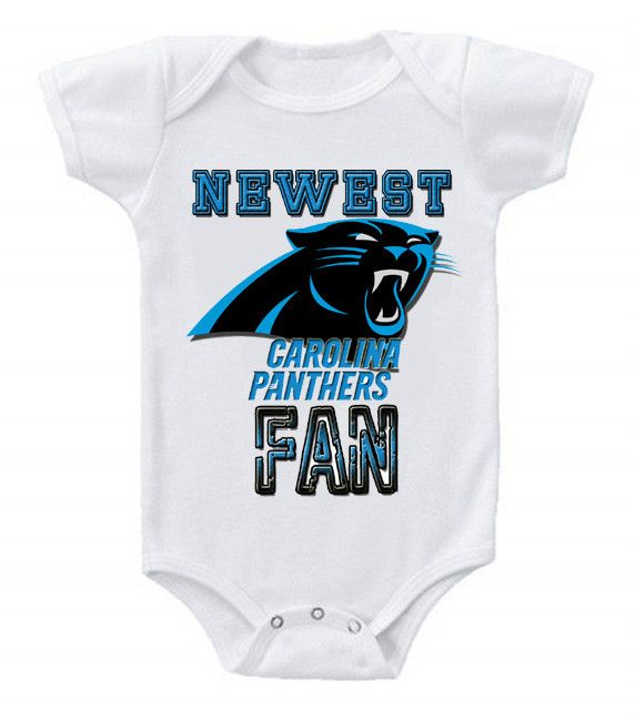NEW Football Baby Onesie Creeper NFL Carolina Panthers