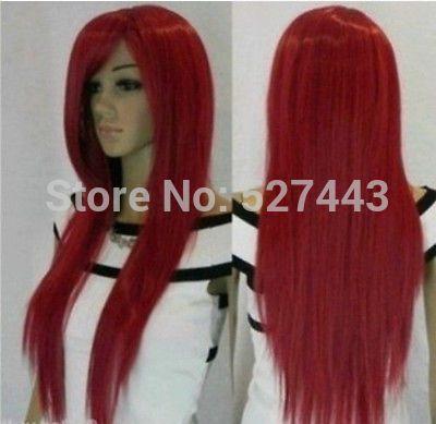 Оптовая hy001658>> Оптовая дешевые новый Стильный парики длинные Красные длинные Прямые Волосы ЖЕНСКОЙ ПОЛНЫЙ ПАРИК