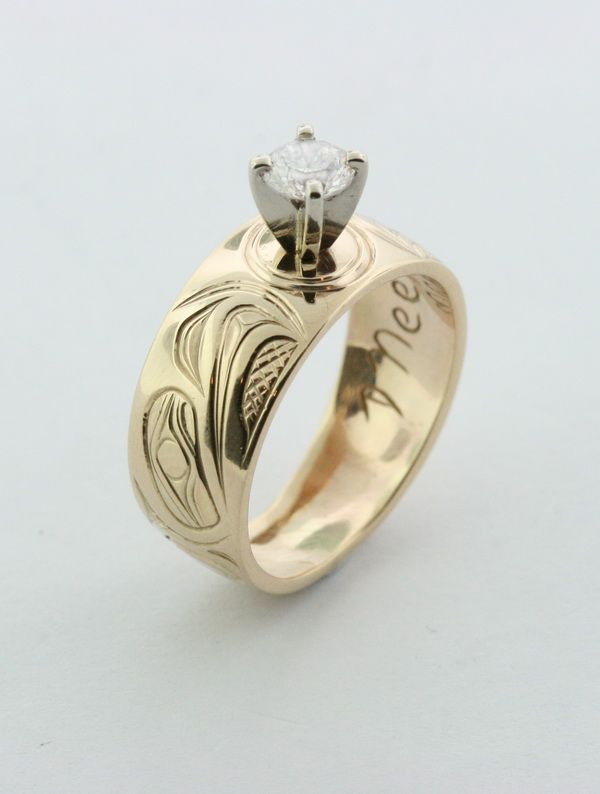 How do you say I love you? A Gold Eagle Ring with a 1/2 carat diamond is a good start.