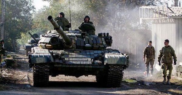 UKRAINE SAYS RUSSIAN TANKS HAVE CROSSED THE BORDER Claim made after vote was held in Donetsk People's Republic on Sunday