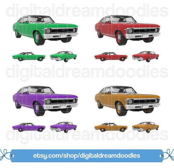 Car Clipart, Classic Car Clip Art, Nova Vehicle Digital Image, Nova Car Scrapbook, Vintage Car Graphic, Nova Auto Picture, Instant Download