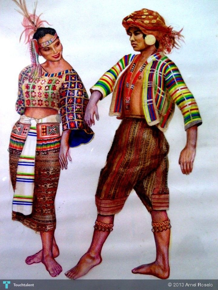 Philippines Tribal Costume No 1 Painting By Arnel Roselo