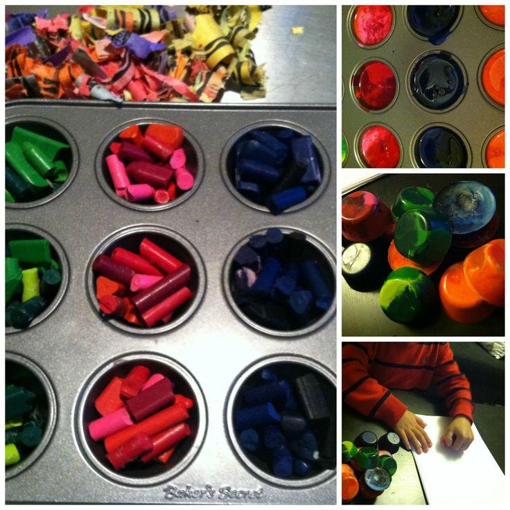 Make New Crayons From Broken Ones