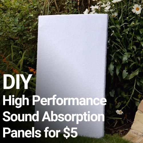 In this video DIY Perksexplores the possibility of making DIY sound absorption panels on a budget, later comparing them to much more expensive acoustic foam. The results are pretty amazing! He goes pretty in depth. Testing various materials and showing the results. I will make a couple of these if I can find a few …