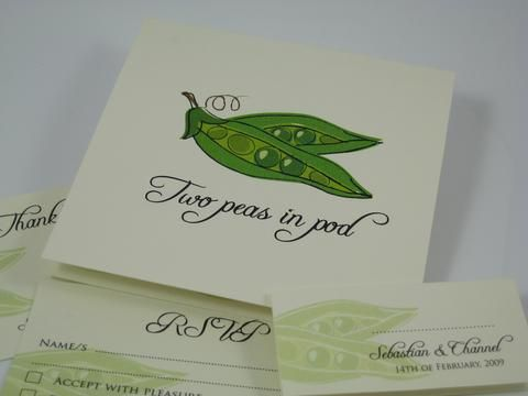 Two Peas in a Pod Wedding Invitations
