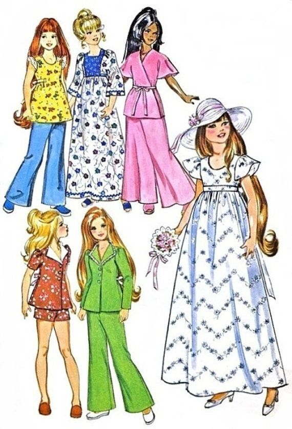 Velvet etc Crissy Kerry Simplicity 9698-17 1//2 inch doll clothes pattern