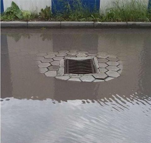 Good thing we had this flood prevention system installed